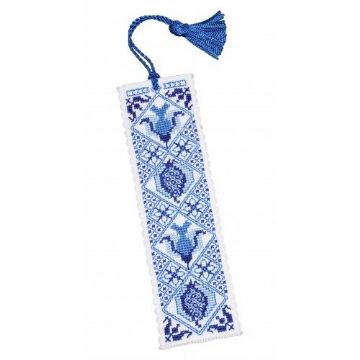 Delft Blue Cross Stitch Bookmark Kit